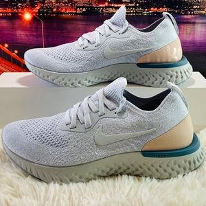"NIKE EPIC REACT FLYKNIT ""PURE PLATINUM CELESTIAL"""